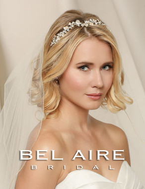 Bel Aire Bridal Wedding Veil V9996- Metallic Rolled Edge
