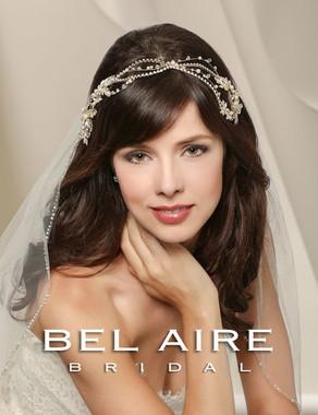 Bel Aire Bridal Accessory Headpiece 6536 - Wavy headpiece.