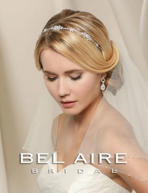 Bel Aire Bridal Accessory Headpiece 6517  - Narrow rhinestone headband