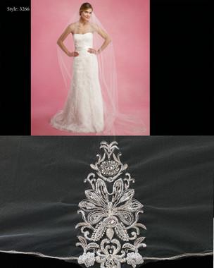 Marionat Bridal Veils 3266- The Bridal Veil Company - Rhinestone appliques