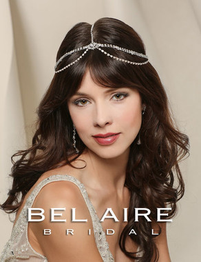 Bel Aire Bridal Accessory Headpiece 6512 - Bohemian rhinestone chain headpiece