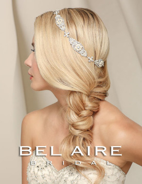 Bel Aire Bridal Accessory Headpiece 6510 - Halo of pearl filigree motifs