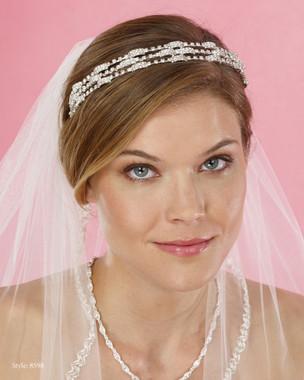 Marionat Bridal Headpieces 8598  Triple rhinestone band