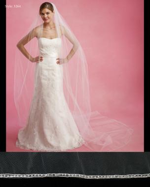 "Marionat Bridal Veils 3264- The Bridal Veil Company - 108"" beaded edge"