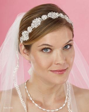 Marionat Bridal Headpieces 8592-   Rhinestone Flexi Band