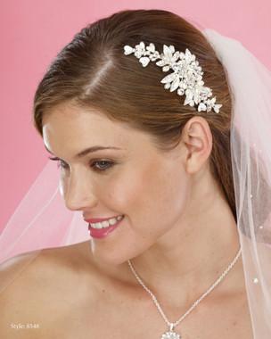 Marionat Bridal Headpieces 8548 - Pearl and Rhinestone Clip