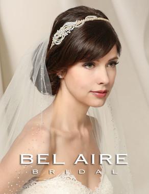 Bel Aire Bridal Accessory Headpiece 6547- Burlap Ribbon Headband