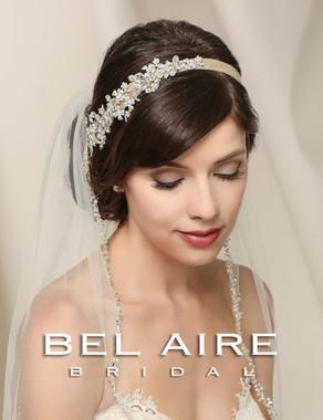 Bel Aire Bridal Accessory Headpiece 6548- BurlapHeadband withRhinestone Design