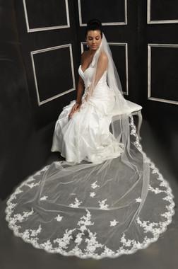 Elena Bridal Designs Wedding Veil Style E1152L - Cathedral Lace Wedding Veil