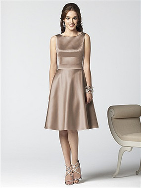 Dessy Bridesmaids Dress Style 2852 By Vivian Diamond - Matte Satin