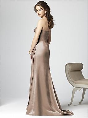Dessy Bridesmaids Dress Style 2851 By Vivian Diamond - Matte Satin