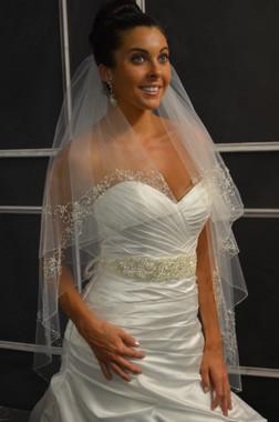 Elena Designs Wedding Veil Style E1148- Cascade