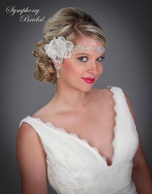 Symphony Bridal Hairwrap - HW402