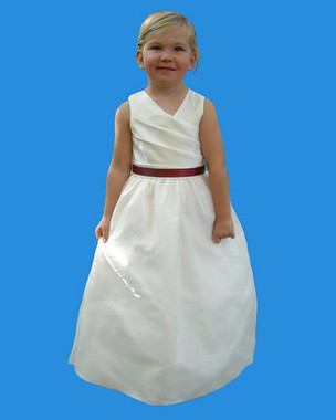 Rosebud Fashions Flower Girl Dresses Style 5111 - Satin and Organza