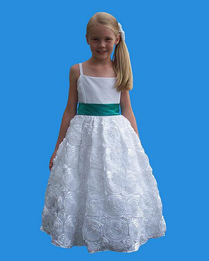 Rosebud Fashions Flower Girl Dresses Style 5121 - Satin and Organza