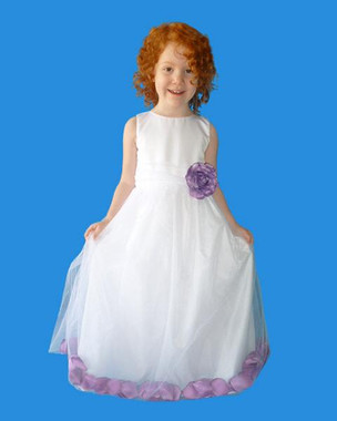 Rosebud Fashions Flower Girl Dresses Style 5102 - Satin and Tulle