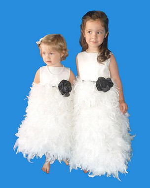 Rosebud Fashions Flower Girl Dresses Style 5120 - Satin and Feathers