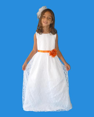 Rosebud Fashions Flower Girl Dresses Style 5108 - Satin and Lace
