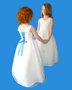 Rosebud Fashions Flower Girl Dresses  Style 5110 Satin and Organza