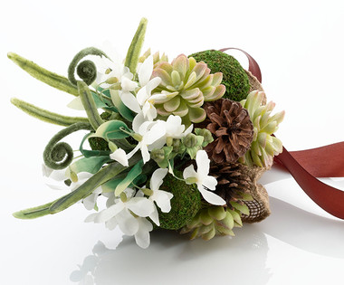 Moss Wedding Bouquet  -  Lillian Rose