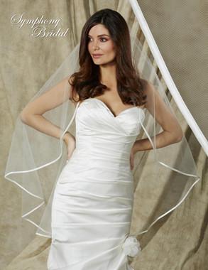 Symphony Bridal Veil - Style 6615VL- One Tier Satin Edge