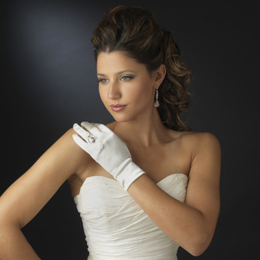 Formal or Bridal Gloves Style GL-217-2W