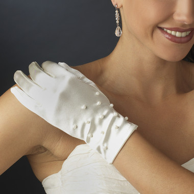 Formal or Bridal Gloves Style GL-9054-2W