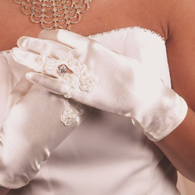 Formal or Bridal Gloves Style GL-9055-2W