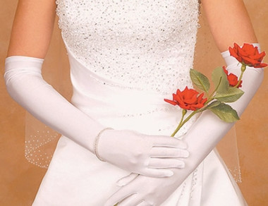 Satin Above Elbow Bridal Gloves GL-SA