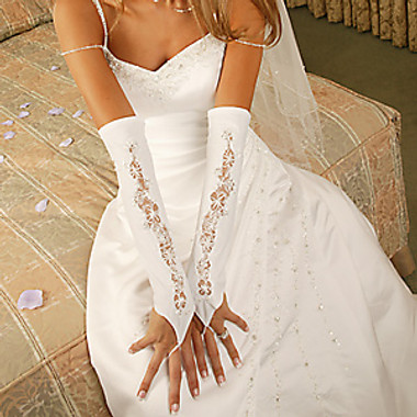 Designer Fingerless Bridal Glove GL-9130-12A