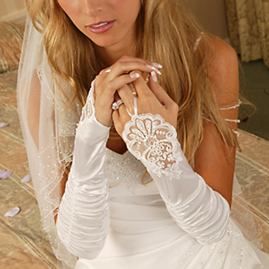 Elegant Fingerless Bridal Glove GL-9053-8E