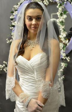 Elena Designs Wedding Veil Style E1156c -Cathedral Lace Edge