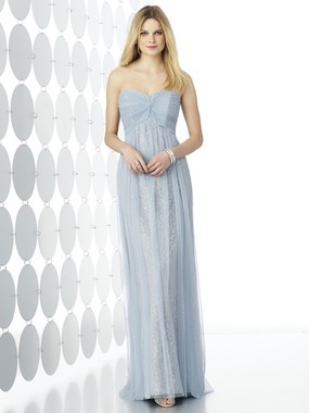 After Six Bridesmaids Style 6725 by Dessy - Soft Tulle with Lace
