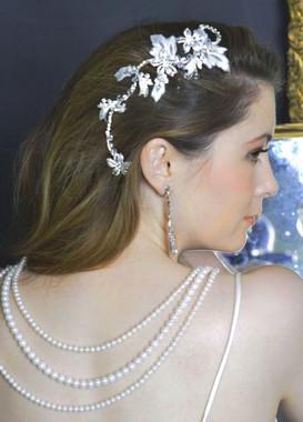Elena Bridal Designs E589- Floral Crystal Headpiece