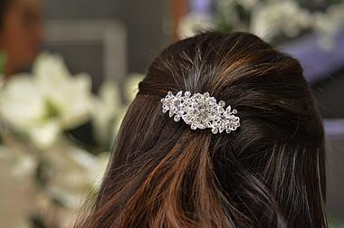 Elena Bridal Designs E808C - Crystal Rhinestone Hairclip
