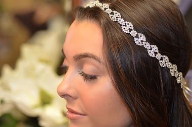 Elena Designs E812 - Rhinestone Weave Headband