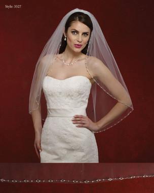 Marionat Bridal Veils 3327- The Bridal Veil Company - Beaded Edge Veil