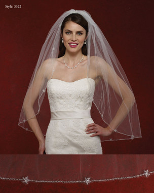 Marionat Bridal Veils 3322- The Bridal Veil Company - Beaded Edge Veil