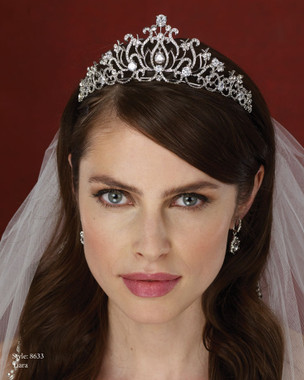 Marionat Bridal Accessories - Marionat Bridal Headpieces 8633-Rhinestone Tiara
