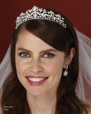 Marionat Bridal Accessories - Marionat Bridal Headpieces 8623- Rhinestone Tiara