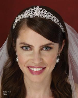 Marionat Bridal Accessories - Marionat Bridal Headpieces 8616- Rhinestone Tiara