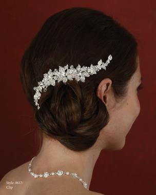 Marionat Bridal Accessories - Marionat Bridal Headpieces 8613- Rhineston Clip
