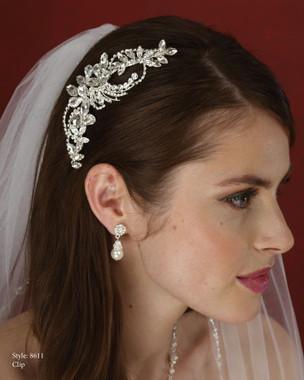 Marionat Bridal Accessories - Marionat Bridal Headpieces 8611- Rhineston Clip