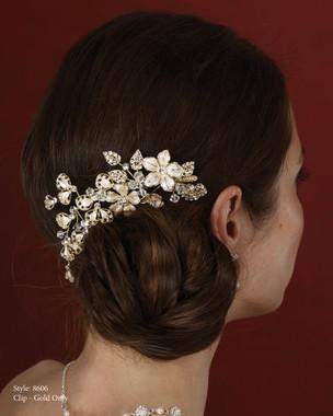 Marionat Bridal Accessories - Marionat Bridal Headpieces 8606- Floral Hair Clip