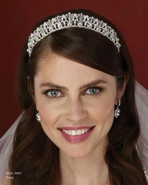 Marionat Bridal Accessories - Marionat Bridal Headpieces 8603- Rhinestone Crystal Tiara