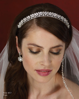 LeCrystal  Accessory- Marionat Bridal Headpieces 4613- Rhinestone Tiara