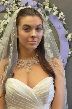 Elena Designs Wedding Veil Style E1160 -One Tier Fingertip Beaded Edge Veil