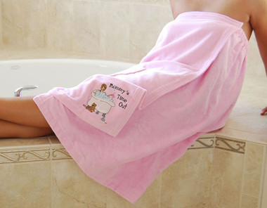 Mommy's Time Out Terrycloth Bath Wrap - Lillian Rose