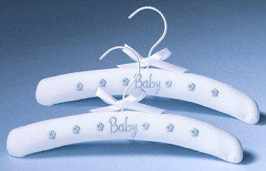 Set of 2 Baby Clothes Hangers - Blue- Lillian Rose