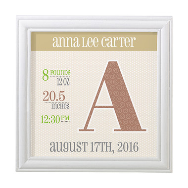 Personalized Announcement Frame - Lillian Rose